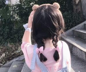 bear, faceless, and girl image