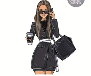 girlboss, book, and fashion image