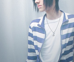 adorable, scene boy, and stripes image