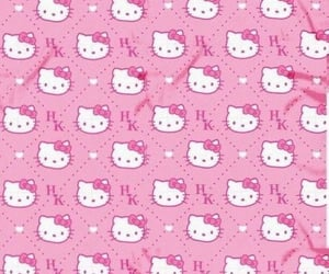 background, HelloKitty, and pink image