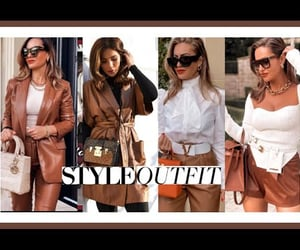 invierno, moda, and brown outfits image