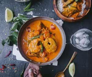 indian food, asian food, and kerala fish curry image