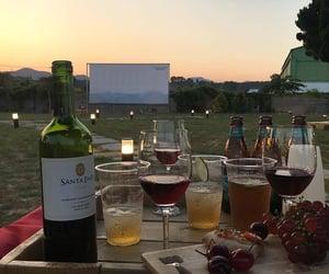 wine, drinks, and sky image