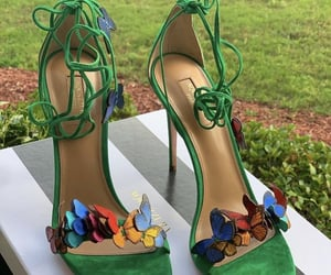 butterfly, green, and shoes image