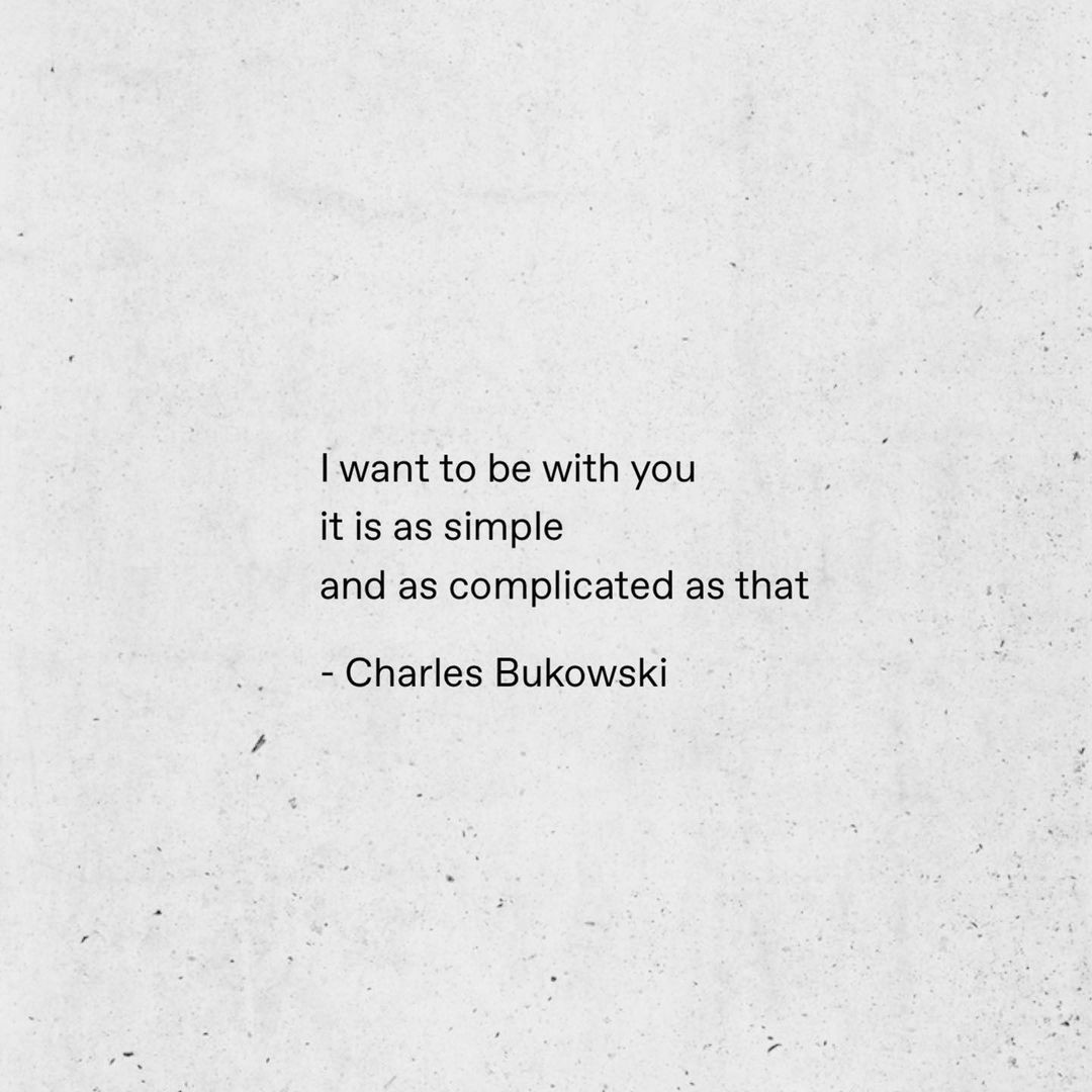 charles bukowski, complicated, and crush image