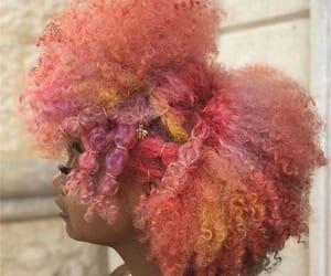 curly hair, natural hair, and orange hair image