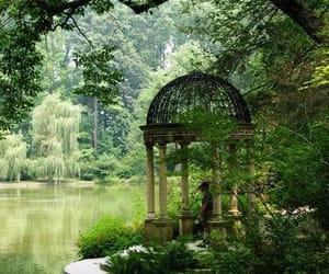 garden, lake, and nature image