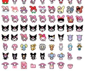 kawaii, layout, and pink image
