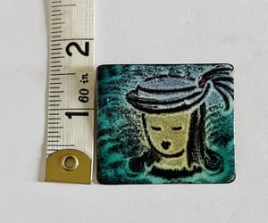 etsy, enamel jewelry, and hand painted brooch image