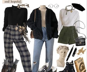 fashion, dark academia, and outfits image
