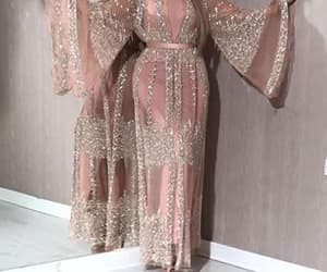 beaded prom dress, pink prom dress, and sparkly prom dress image