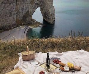 food, picnic, and landscape image