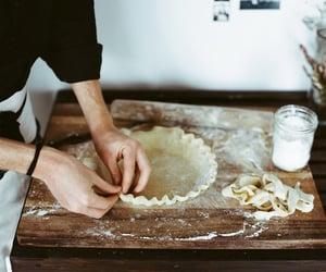 cake, food, and preparing image