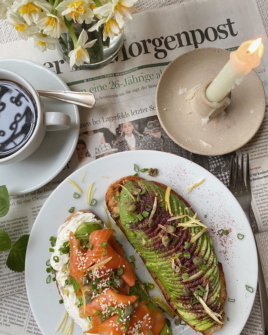 article, avocado, and breakfast image