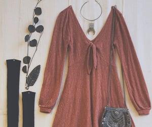 dress, purse, and socks image
