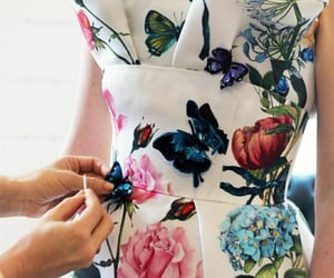 butterflies, blue pink, and spring summer image