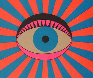 eye, colors, and psychedelic image