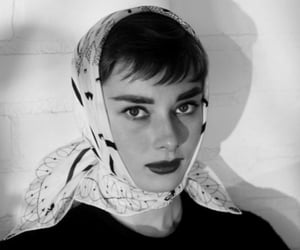 audrey hepburn, black and white, and woman image