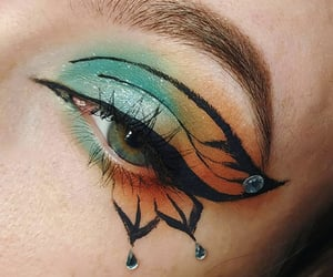 butterfly, makeup, and makeup look image