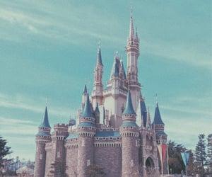 cinderella, disney, and cinderella castle image