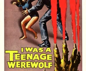 50's, monster movies, and vintage image