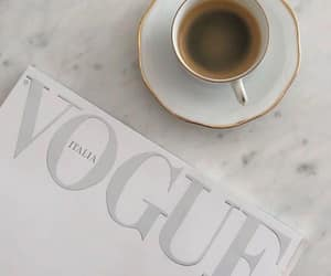 vogue, coffee, and drink image