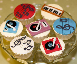 music and cupcake image
