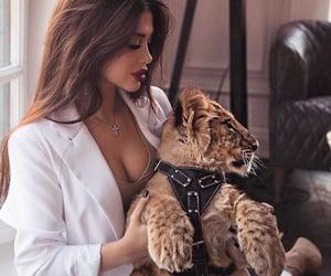 girl, animal, and fashion image