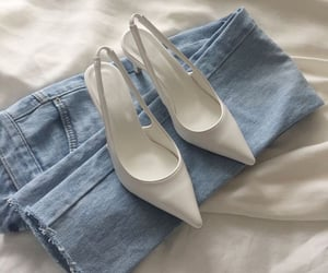 shoes, jeans, and white image