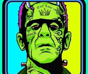 Frankenstein, vintage horror, and zombie image
