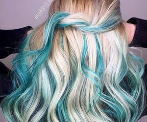 blue hair, hair inspo, and alternative style image