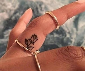 finger, tatto, and cute image