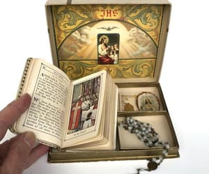 etsy, christmas holiday, and antique prayer book image