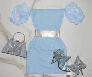blue, glam, and party image