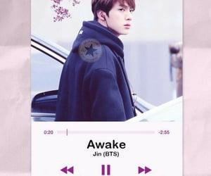 awake, jin, and k-pop image