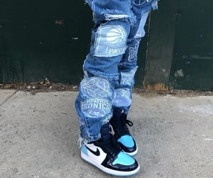 baggy, blue, and jeans image