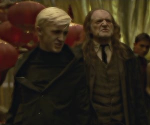 draco malfoy, harry potter, and hprp image