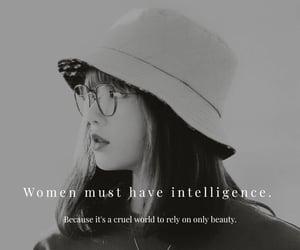 aesthetic, beauty, and intelligence image