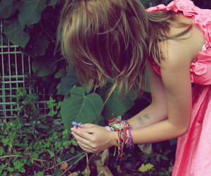 cool, flower, and girl image