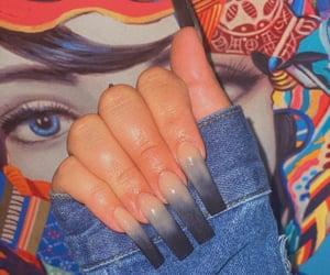 aesthetic, nails, and acrylic nails image