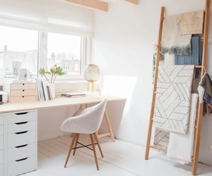 decor, office, and white image