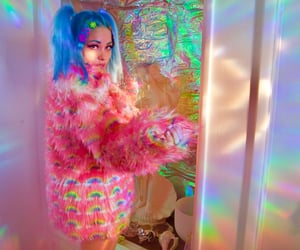 colorful, dreamy, and hairstyle image
