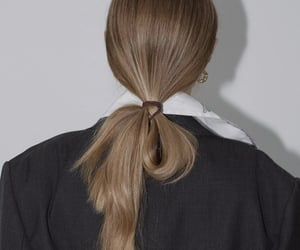 hairstyle, ponytail, and style image