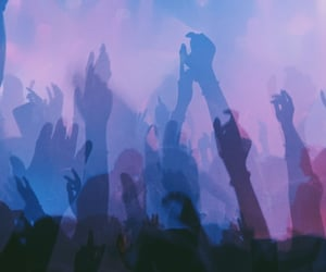 blue, concert, and cyberpunk image