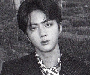 black and white, jin, and scan image