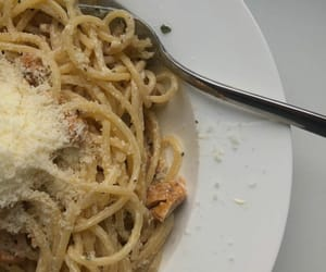 cheese, delicious, and spaghetti image