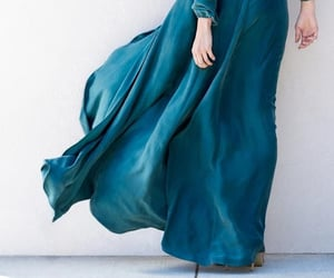 dress, turquoise, and wind image