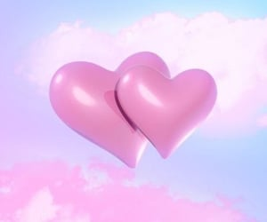 hearts, pink, and aesthetic image