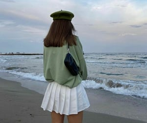 fashion, green, and beach image