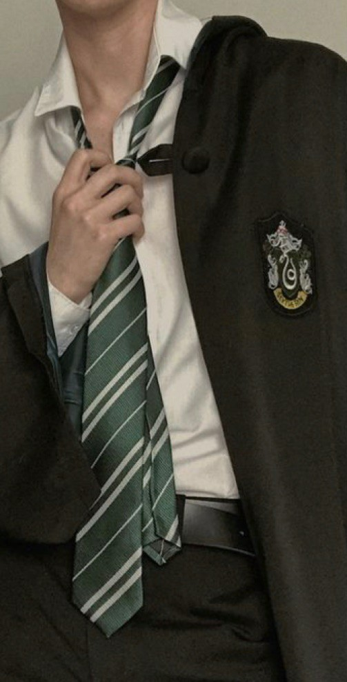 green, silver, and slytherin image